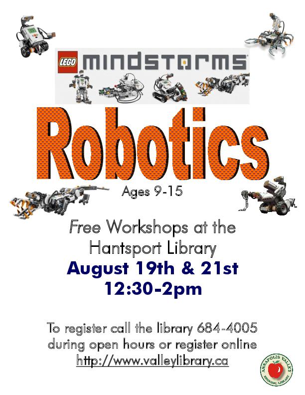 Lego Robotics At Library Hantsport August 19 2013 12 30pm