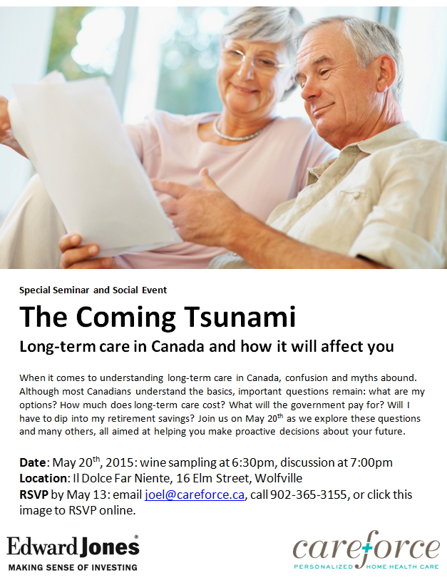 CANCELLED The Coming Tsunami Long Term Care In Canada And How It Will Affec