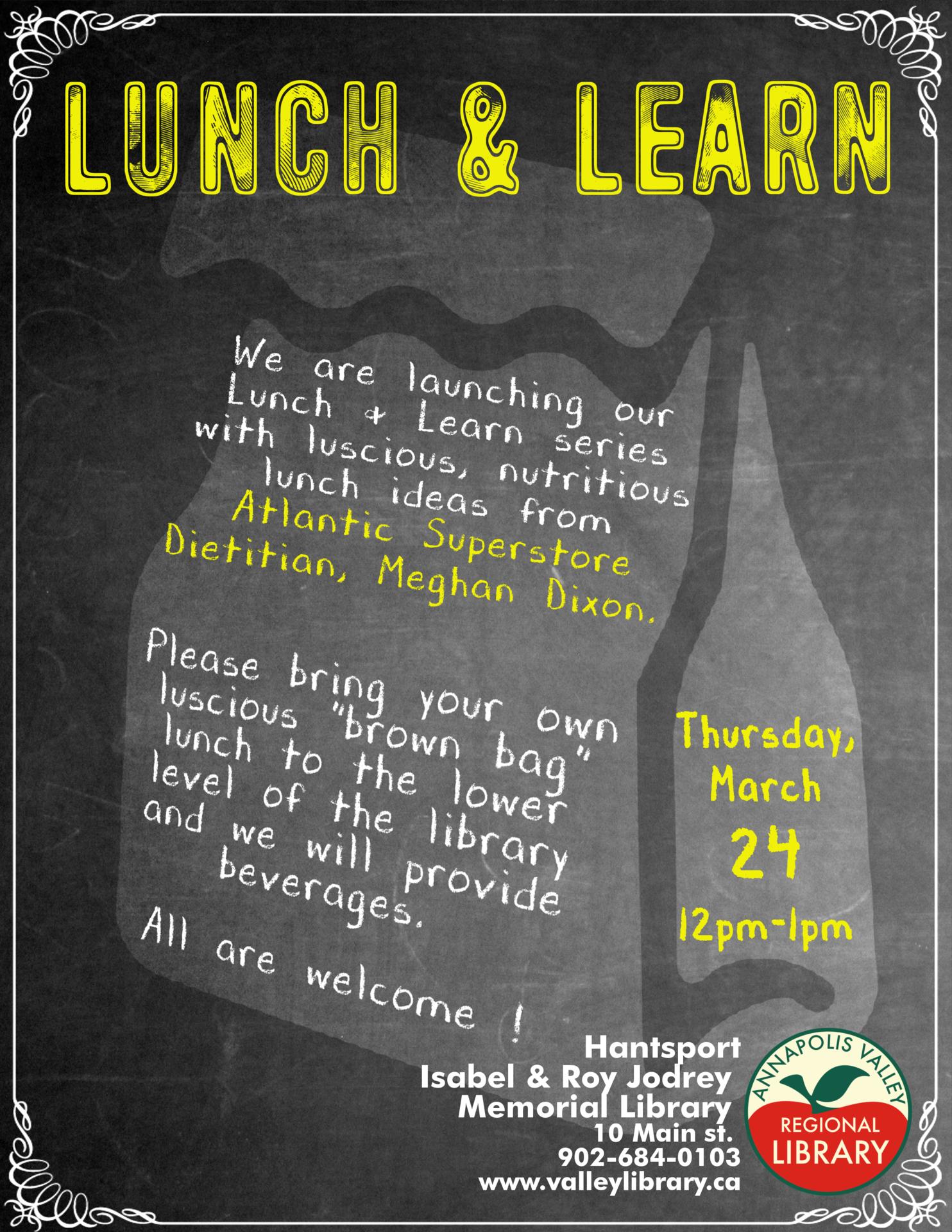 Lunch & Learn : Healthy Lunch Ideas At Isabel & Roy Jodrey