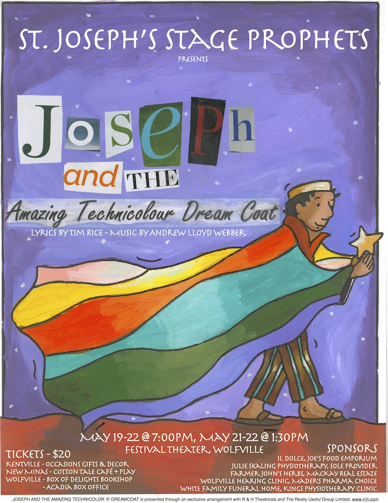 joseph  u0026 the amazing technicolour dream coat at festival theatre  wolfville  may 21  2016 1 30pm