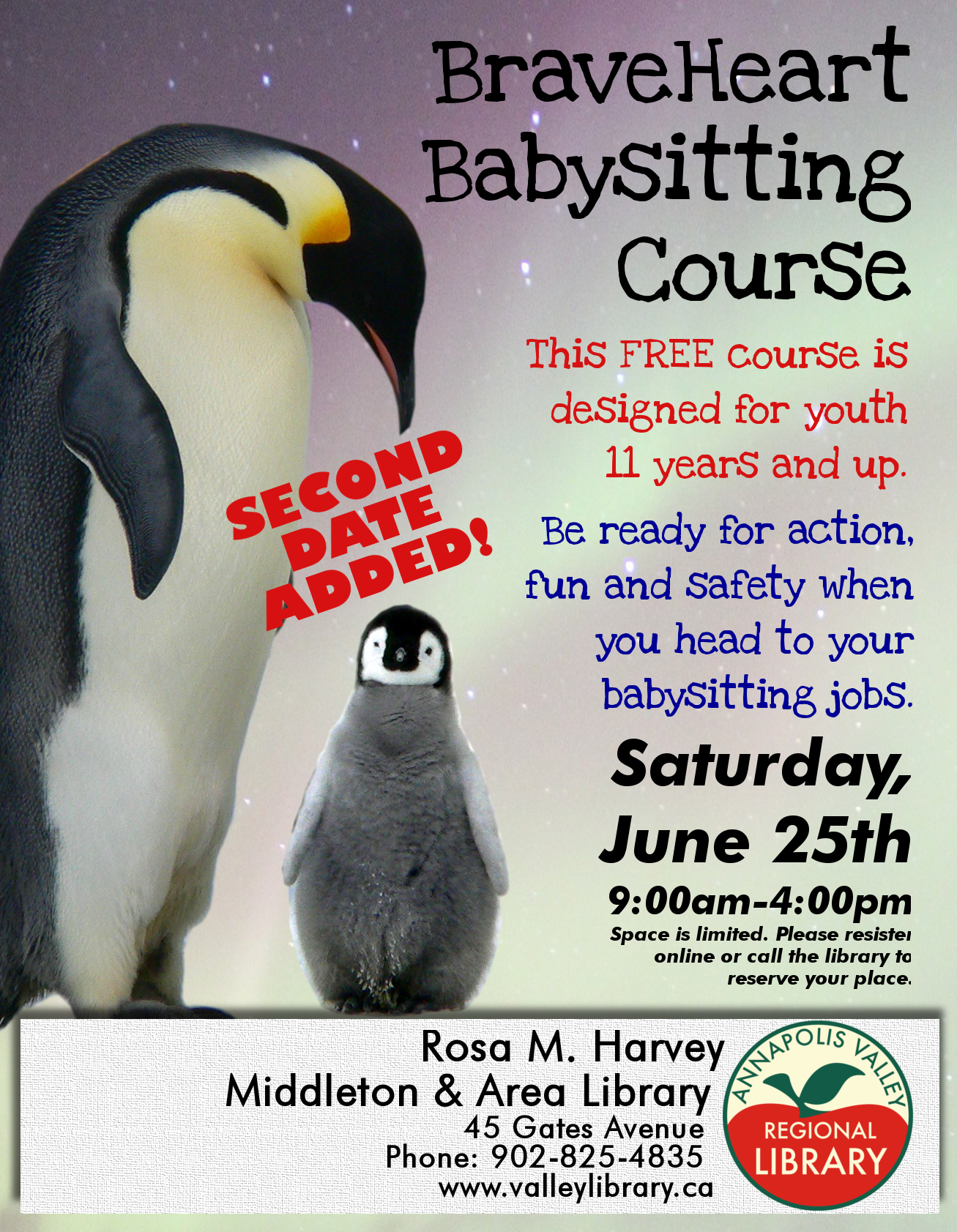 babysitting course at rosa m harvey middleton area library view larger poster