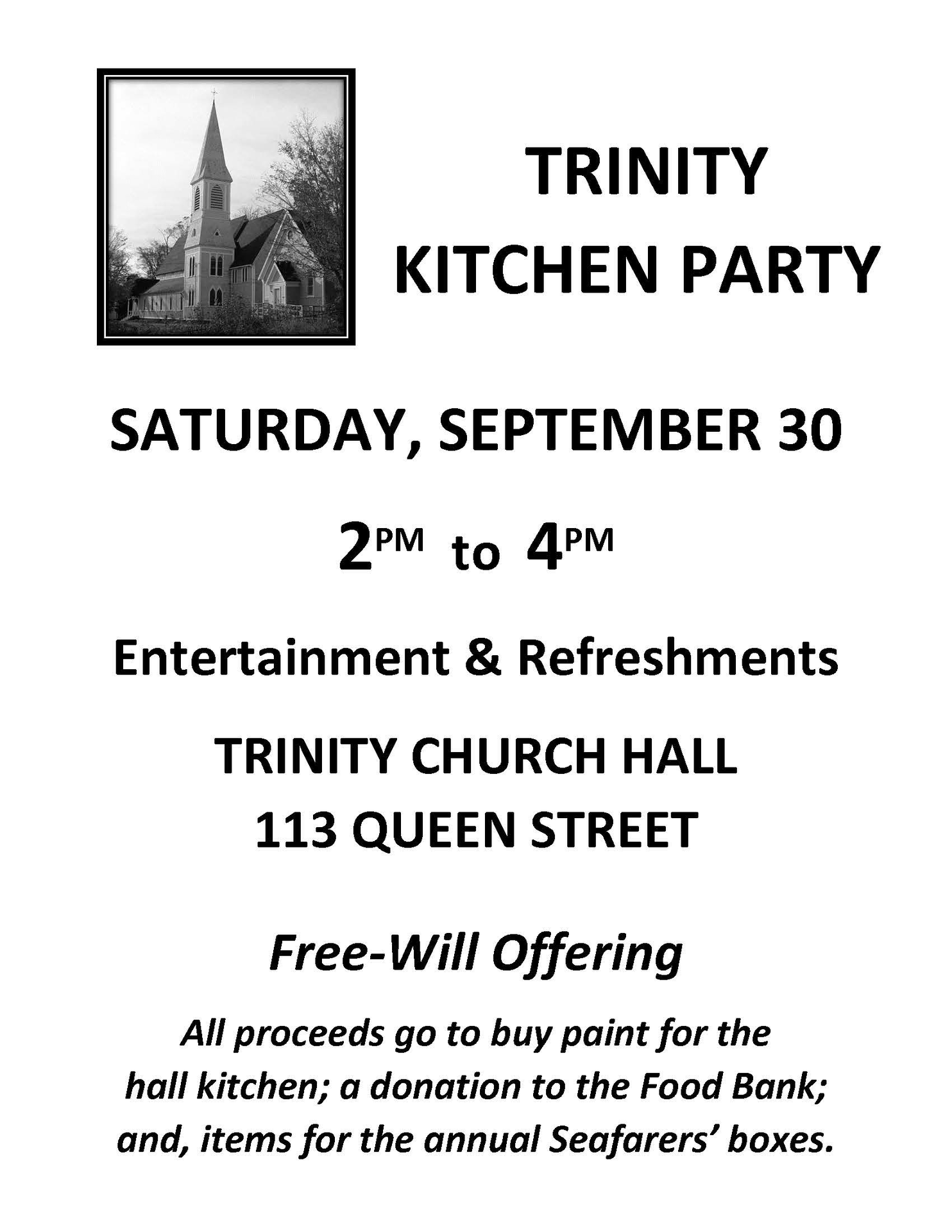 Kitchen Party at Trinity Anglican Church, Digby (September 30, 2017 2pm)