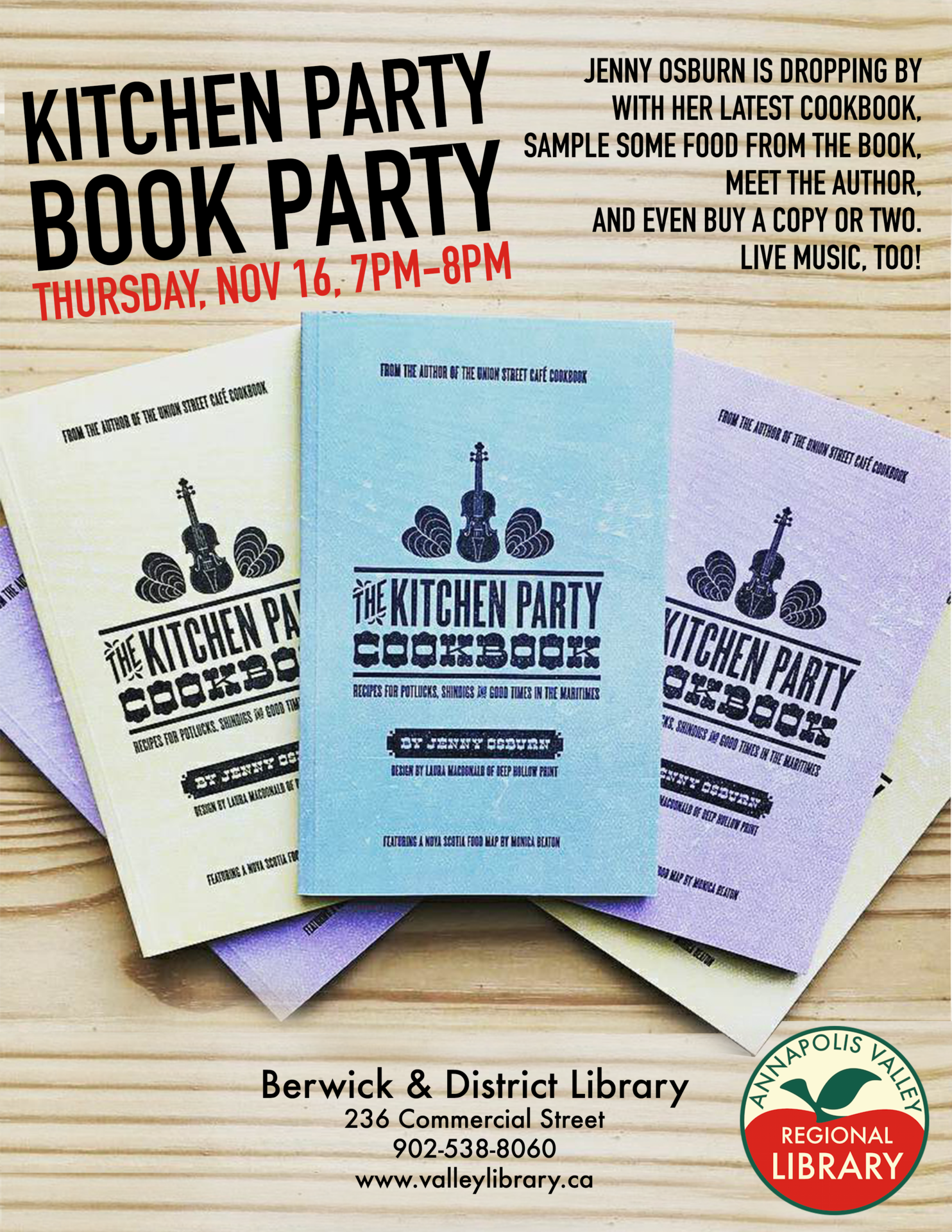 Kitchen Party Book Party at Berwick and District Library, Berwick ...