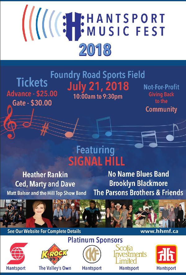 Hantsport Music Fest at Foundry Road Sports Field, Hantsport