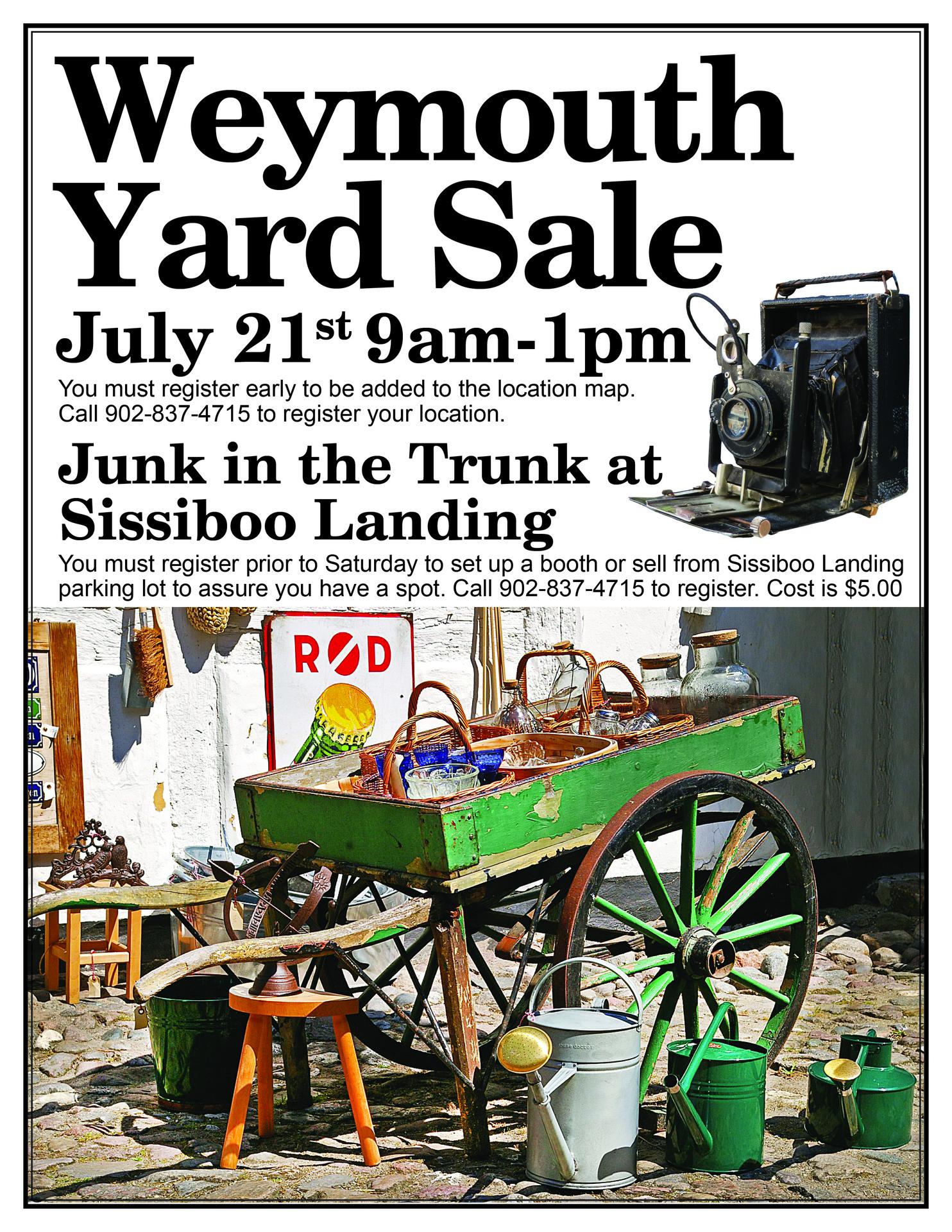 Community Yard Sale at Sissiboo Landing & Information Centre