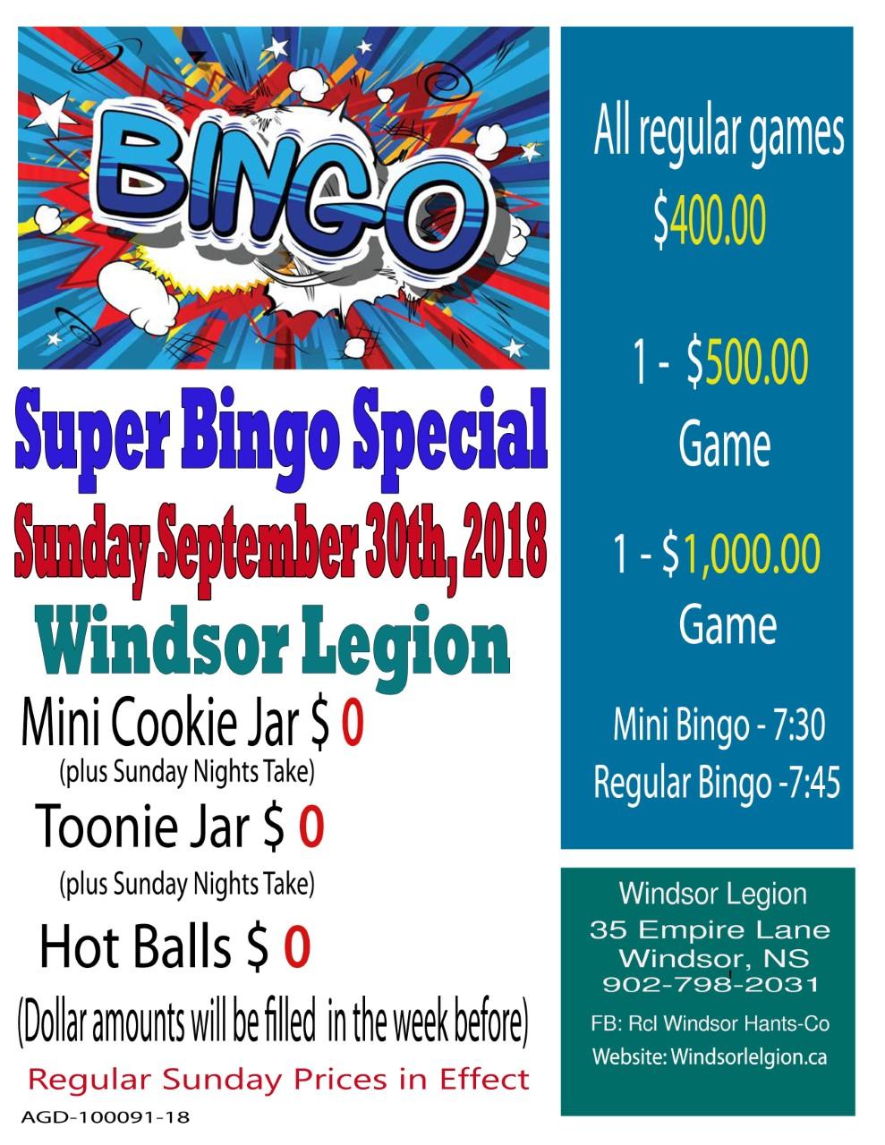 Windsor Bingo