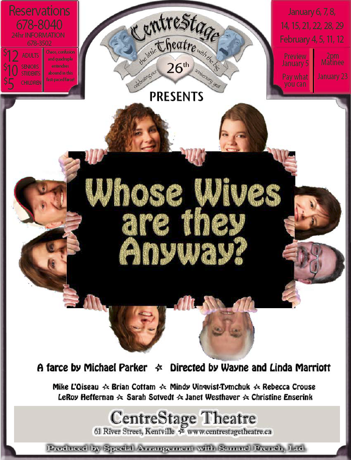 Whose Wives Are They Anyway At Centrestage Theatre