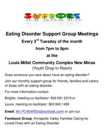 Eating Disorders Support Group 93